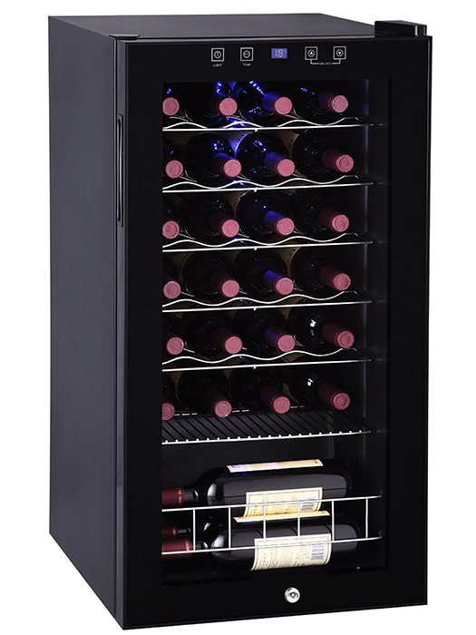 Wine Cellar 28 bottles Black – Vinum