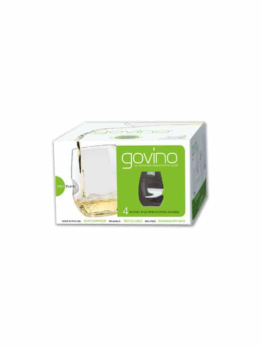 Boîte de 4 verres à vin blanc en polymère – Govino
