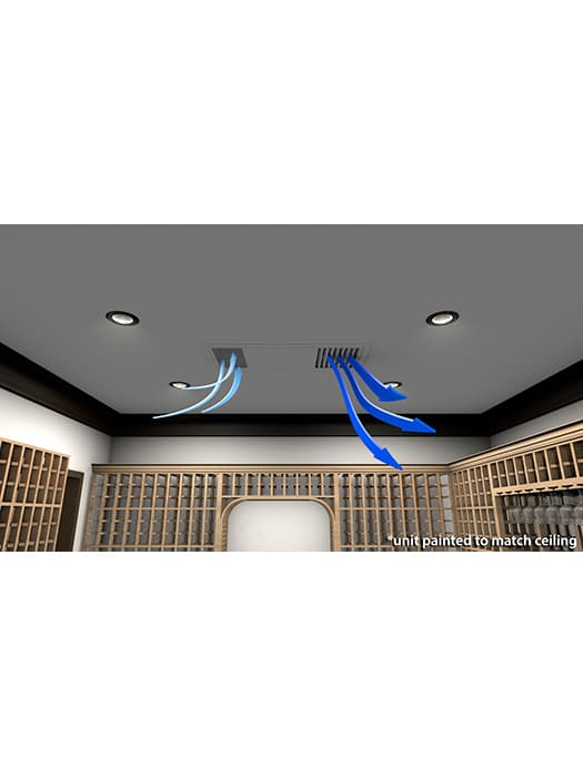 Wine cellar cooling unit 4000 WhisperKool Ceiling Mount Series