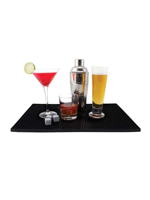 Black service bar mat