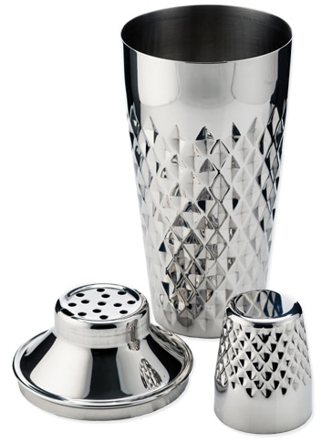 Faceted cocktail shaker