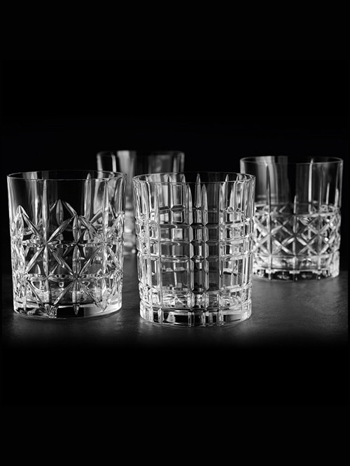 Set of 4 whisky glasses 'Highland'