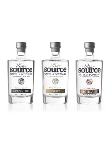 Trio d'eaux à whisky – Uisge Source