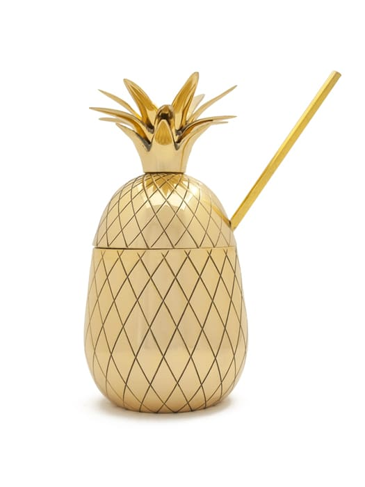 Large Gold 'Pineapple' tumbler
