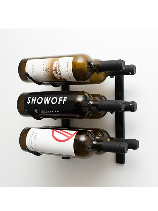 Wall mounted wine rack 6 bottles (3×2) – Vintage View