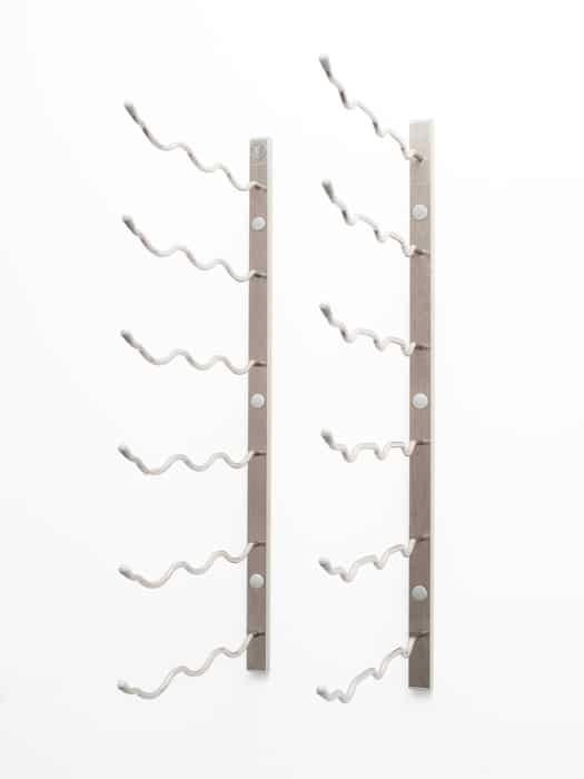 Wall mounted wine racks