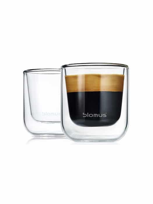 Set of 2 espresso glasses Nero