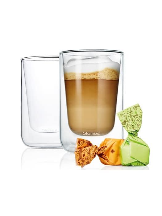 Ens de 2 tasses à cappuccino Nero