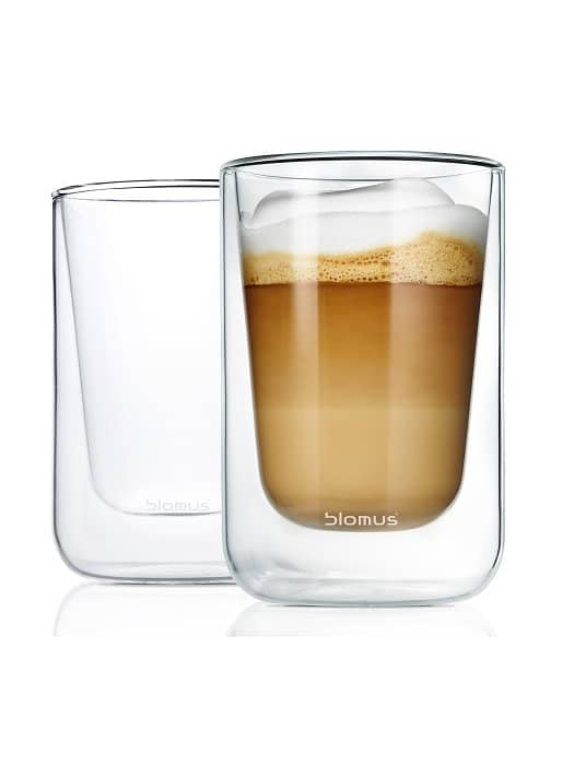 Set of 2 cappuccino glasses Nero – Blomus