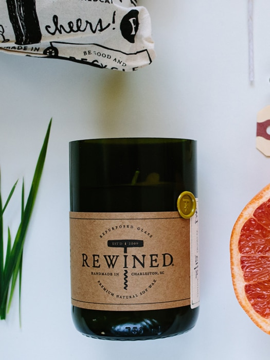 Rewined Sauvignon blanc candle
