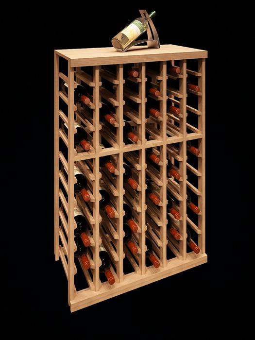 Support à bouteilles 6 colonnes demi-hauteur – Elite Kit