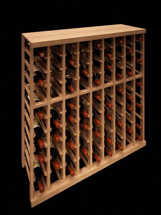 Support à bouteilles individuelles 9 colonnes demi-hauteur – Elite Kit