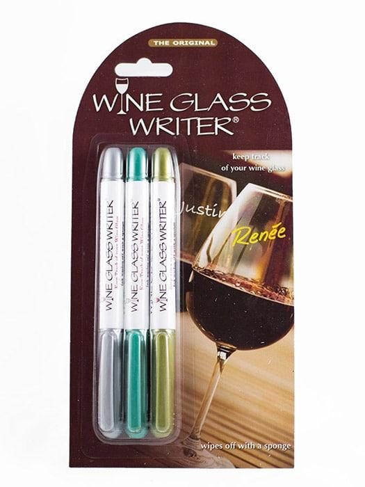 Trio of wine glass writers