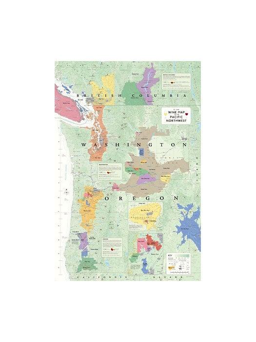 Carte viticole de la côte Nord-Ouest de l'Amé. du Nord