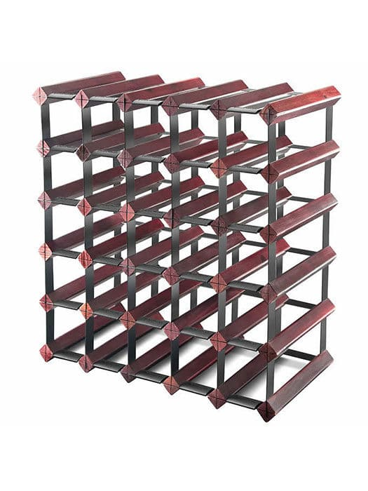 30-bottle wine rack – Cherry finish