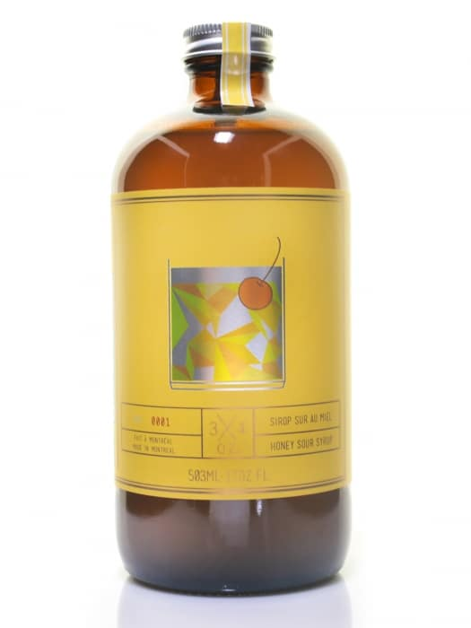 Sirop Sour au miel – 3/4 oz