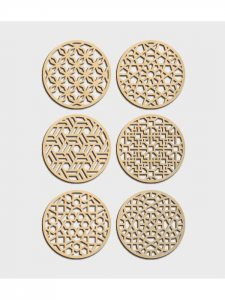 Set of 6 coasters – Humble Raja