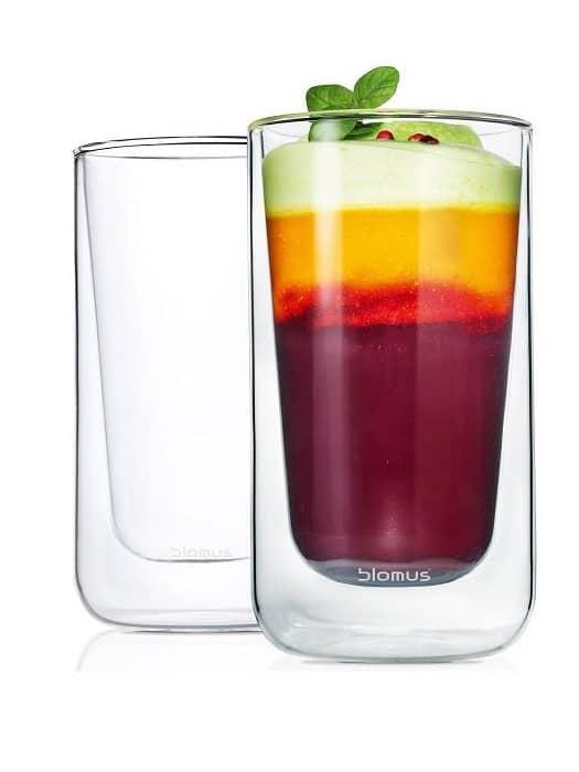 Set of 2 latte glasses Nero