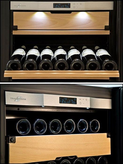 Transtherm Castel 3 zones 165 bottles Wine Cabinet