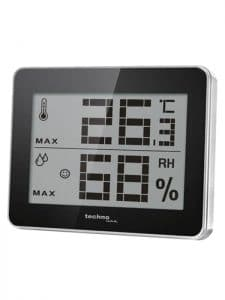 Large digital thermometer-hygrometer for wine cellars